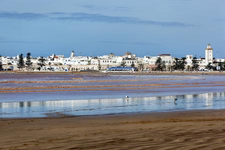Skyline and beach of Essaouira in Morocco Stock Photo
