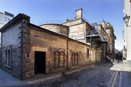 Old vintage industrial building in Edinburgh Redactioneel