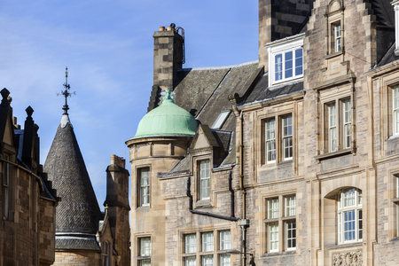 City apartments exterior in Cockburn street in Edinburgh Stockfoto