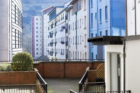Apartment buildings just behind the Royal Mile in Edinburgh Stockfoto