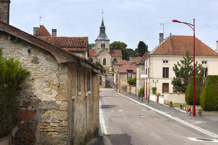 Typical tranquil village street at Doulevant le Ch?teau in France