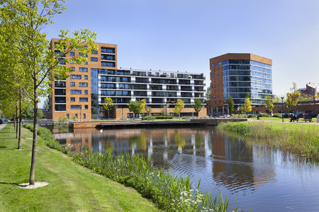 Middle class apartments in Capelle aan den IJssel a suburb of Rotterdam in the Netherlands