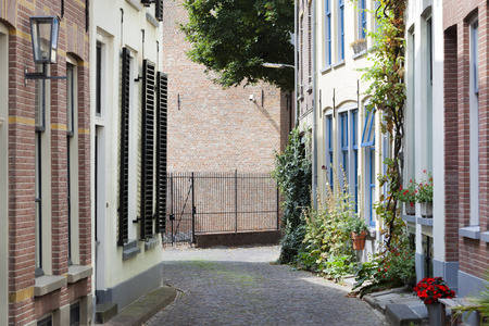 Old picturesque street in the city center of Zutphen in the Netherlands Stockfoto