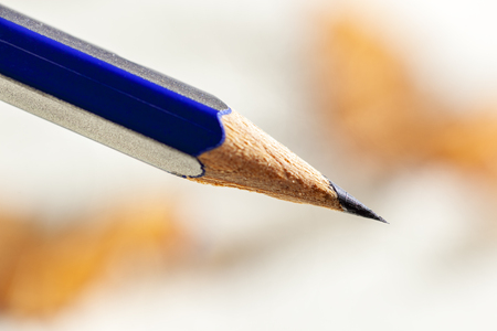 Pencil with a sharp black graphite point Stockfoto