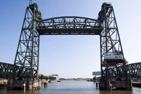 Old railroad bridge De Hef in Rotterdam in the Netherlands