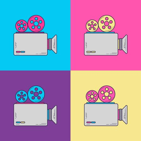 Camera Vintage with 90s style Illustration