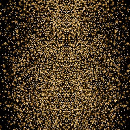 Gold glitter texture on a black background. Golden Sparkle.golden glittering vector, Golden grainy abstract texture on a black background