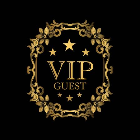 VIP guest luxury design. Design element with original, brand, product, quality, vip.