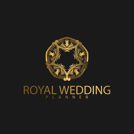 Logo Premium Luxury with Golden Color. Royal brand for luxurious corporate