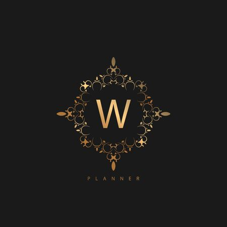 Logo Premium Luxury with Golden Color. Royal brand for luxurious corporate Illustration