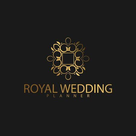 Premium Luxury with Golden Color. Royal brand for luxurious corporate Ilustracje wektorowe