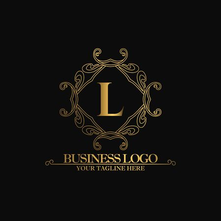 Premium Luxury with Golden Color. Royal Brand for Luxurious Concept, Ornament, Luxury Corporate Identity and Company Profile.