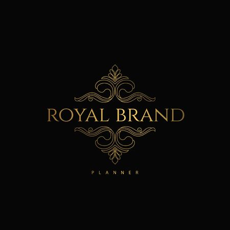 Logo Premium Luxury with Golden Color. Royal Brand for Luxurious Concept, Ornament, Luxury Corporate Identity and Company Profile. Logo