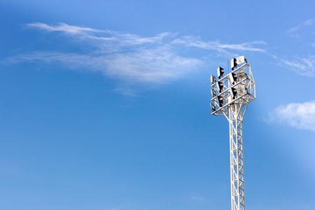 brightness: close up stadium lights,on sky background
