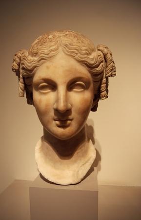 arte greca: Greco antico testa scultura d'arte Archivio Fotografico