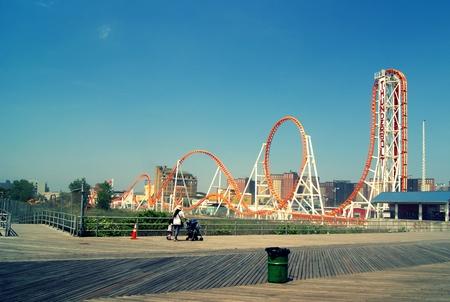 coney: Coney Island roller coaster Editorial