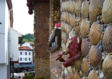 tabaco: Conchas casa en Villaviciosa Foto de archivo