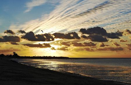 bonanza: Sunset in Playa Bonanza, Cadiz