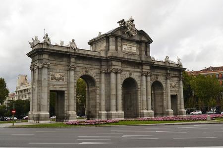 castellana: Photographs Alcala Gate in Madrid, Spain
