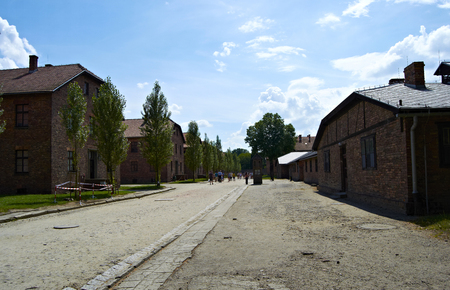 concentration camp: Barracks Auswitch concentration camp in Poland Editorial