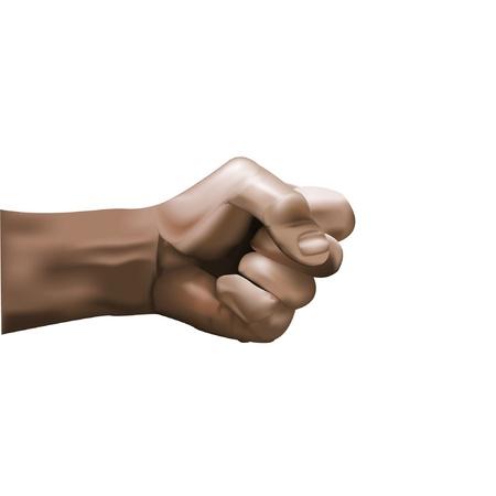closed fist: closed hand Illustration
