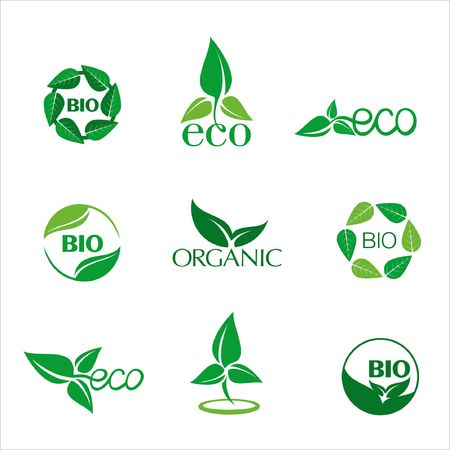 strut: Eco and bio icon for Eco-friendly products Illustration