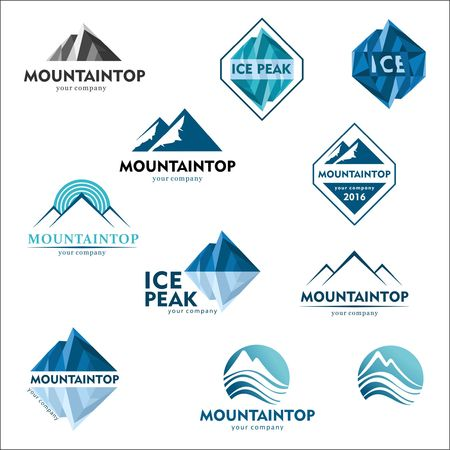 mountainside: Mountain logo, vector logo design for ski sports, tourism, active leisure
