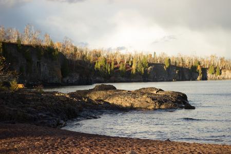 on shore: Rocky Lake Shore