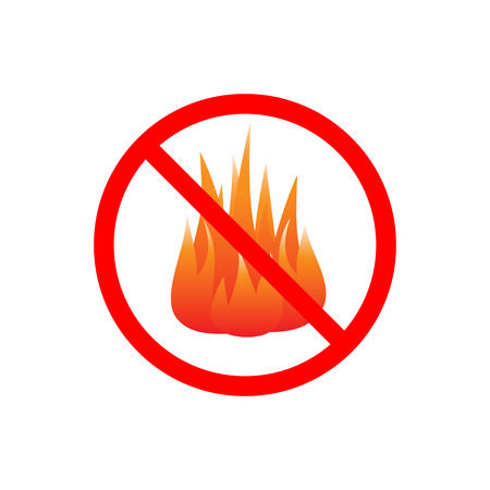 no fires sign vector isolated on white background