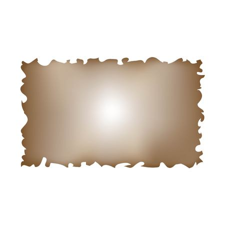 simple old parchment brown paper with torned edges vector isolated on white background Archivio Fotografico - 120035069