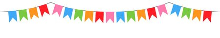 decorative colorful flags garland vector isolated on white background