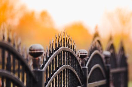 fence iron Standard-Bild