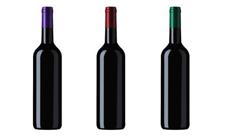 wine bottles or similar bottles illustration