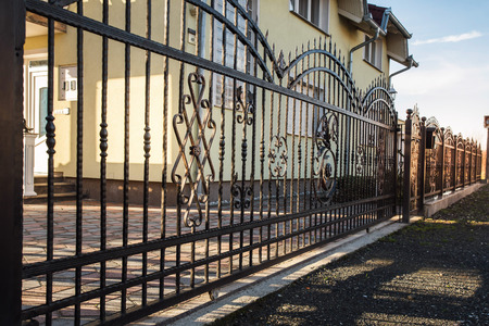 Iron fence with gate