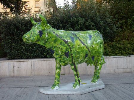 green cow, Budapest Stock Photo - 1987856