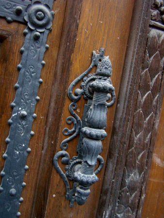 doorhandle: ornate old doorhandle, Budapest Stock Photo