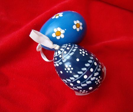 ornamented: ornamented Easter eggs