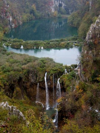at one of the Plitvice Lakes photo