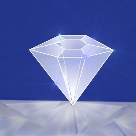 resplendent: resplended diamond, illustration
