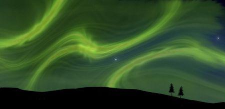 Aurora Borealis, illustration illustration