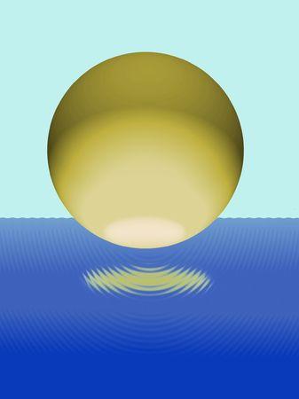 encrespado: bulbo a�reo por encima de agua entrecortado, ilustraci�n