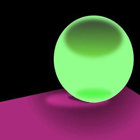 prediction: green bulb for prediction, illustration Stock Photo