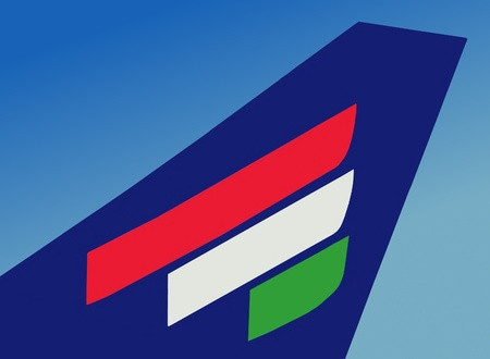 hungarian: The Hungarian flag, illustration