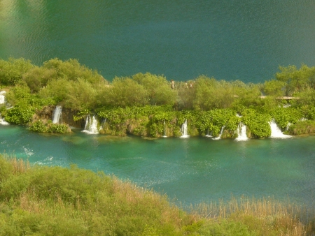 Waterfalls at the bigest lakes, Plitvice, Croatia photo