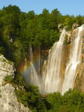 nationale: Rainbow at the Plitvicka Nationale Park, Croatia
