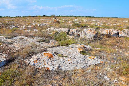 Rocky Land View on top on Kamen Bryag Cliffs Bulgaria