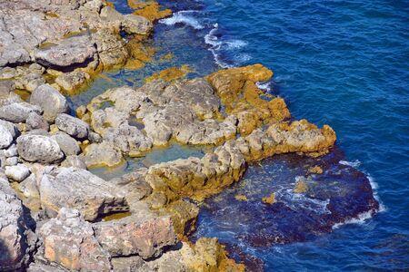Close Up of Rocks in the Sea Kamen Bryag Bulgaria Reklamní fotografie