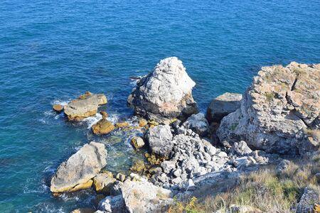 Rocks View from Top in Kamen Bryag High Cliffs Bulgaria