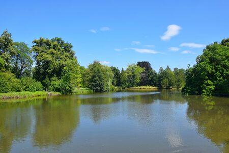 Lake Scenery Natural Background Czech Republic