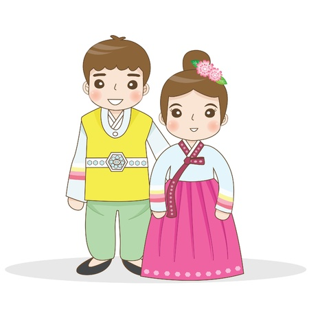 korean girl: Korean traditional dress